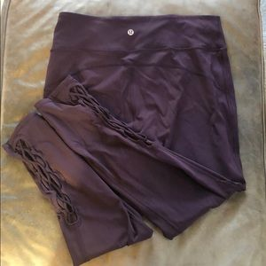 Lululemon Athletica Deep Purple Yoga Pants sz 12